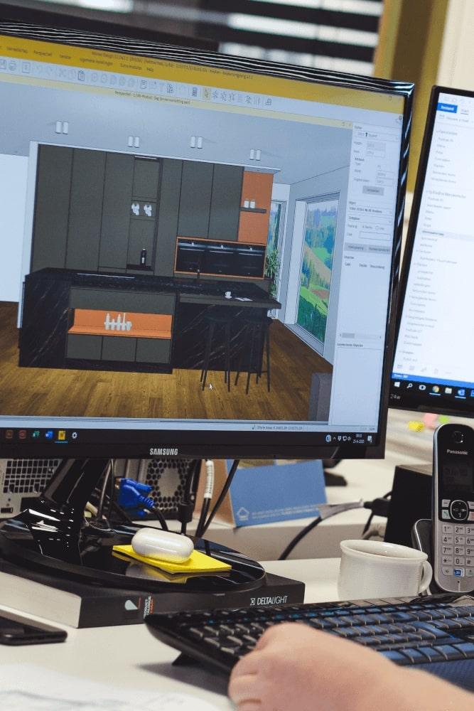 3D-ontwerp van een nieuwe keuken - ACK Keukens