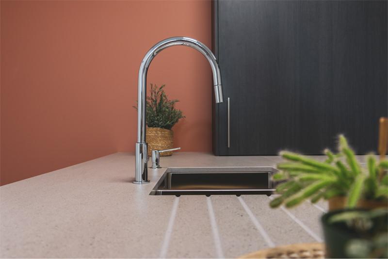 Keukeneiland met geïntegreerde spoelbak - ACK Keukens