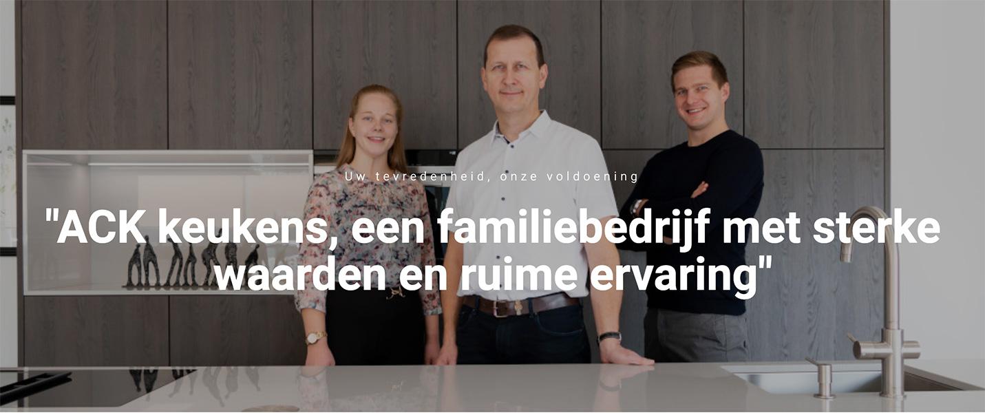 Belgisch familiebedrijf voor keukens op maat - ACK Keukens